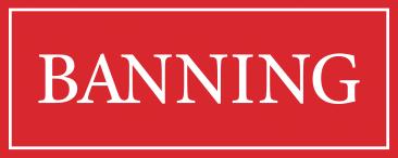 banning logo